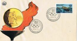 37652. Carta BARCELONA 1976. Comision Ejecutiva Federaciones Nacionales Olimpicas. Montreal 76 - 1931-Aujourd'hui: II. République - ....Juan Carlos I