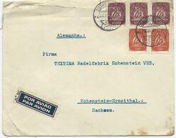 LETTRE PAR AVION 1948 POUR L'ALLEMAGNE AVEC 5 TIMBRES - 1910-... République