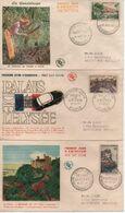19557 FDC  SITES ET MONUMENTS    N° YVERT ET TELLIER    1124/31 - 1950-1959