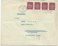 LETTRE 1948 POUR L'ALLEMAGNE AVEC 4 TIMBRES - 1910-... République