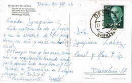 37656. Postal DEVA (Guipuzcoa) 1963. Interior Santuario De LOYOLA - 1931-Aujourd'hui: II. République - ....Juan Carlos I