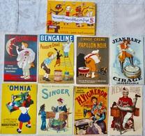 Lot De 9 CPM Publicitaires Machine à Coudre (Singer), Cirages, Peintures (Bengaline, L'Astrolin) ... - Pubblicitari