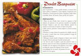 RECETTE  POULET BASQUAISE: Edit: Thouand  N° 003304  Sud-Ouest Gourmand Cliché; P.G Edgard Rosa - Ricette Di Cucina