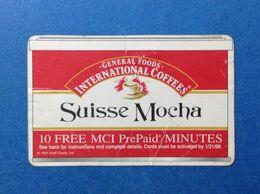 USA STATI UNITI SCHEDA TELEFONICA USATA USED PHONE CARD PREPAID GENERAL FOODS INTERNATIONAL COFFEES SUISSE MOCHA - United States