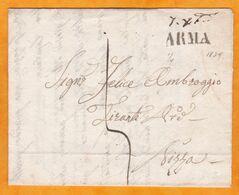 1835 - Lettre Pliée Avec Correspondance En Italien De Arma  Di Taggia  Vers Nizza, Sardaigne (aujourd'hui Nice, France) - 1. ...-1850 Vorphilatelie