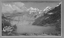 Lac D'Oeschinen Près Kandersteg Oeschinenalp  Bern Blümlisalp  Cailler 80 Chocolat Au Lait - Texte Au Dos  (~10 X 6 Cm) - Nestlé