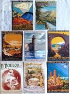 Lot De 8 CPM Publicitaires Du CHEMIN De FER Du MIDI ...Amélie Les Bains, Collioure, Le Boulou, Vernet Les Bains .... - Ferrovie