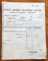 CERTALDO - STABILIMENTO CARBONIFERO SOC.MINIERE LIGNITIFERE RIUNITE  - FATTURA DEL 12/5/1927 - Historical Documents