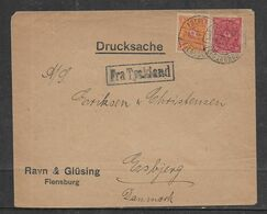 """Germany, Cover, 15 Mark, FREDERICIA FLENSBORG 21,12,22 C.d.s.> Denmark """"Fra Tyskland"""" (from Germany"""" Cachet - Storia Postale"""