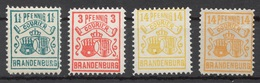 Privat-Stadt-Post Brandenburg 1+ 2+ 4 */(*) - Private