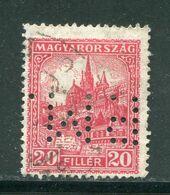 HONGRIE- Y&T N°387 (A)- Oblitéré Et Perforé - Hungría
