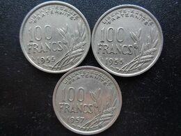 3 X 100 FRANCS COCHET 1955, 1955 B ET 1957 - France