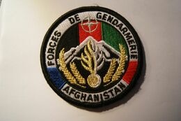 PATCH ECUSSON INSIGNE FORCES DE GENDARMERIE AFGHANISTAN AGREE DGGN - Policia