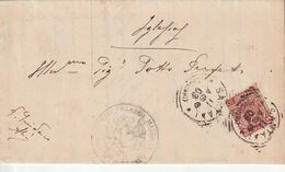 Santadi. 1903. Annullo Tondo Riquadrato SANTANDI (CAGLIARI), Su Lettera Completa Di Testo - Marcophilie