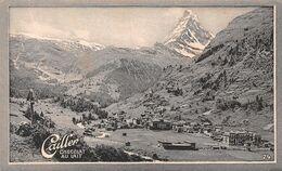 Zermatt  765 Hab. Gornergrat - Cervin - Matterhorn - Valais - Cailler 74 - Chocolat Au Lait - Texte Au Dos  (~10 X 6 Cm) - Nestlé
