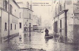 Inondation De 1910 Corbeil Essonne, Rue Du14 Juillet - Corbeil Essonnes