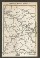 CARTE PLAN 1960 ALLEMAGNE FREIBURG TITISEE SCHONAU - KARTE 1960 DEUTSCHLAND - Cartes Topographiques