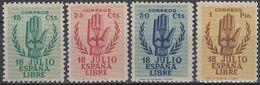 ESPAÑA 1938 Nº 851/854 NUEVO - 1931-50 Ungebraucht