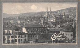 Neuchâtel 21985 Hab En 1904. Amphithéâtre Chaumont - Farel -  Cailler 174 Chocolat Au Lait - Texte Au Dos  (~10 X 6 Cm) - Nestlé