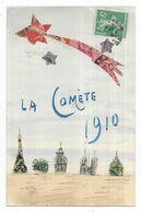 La Comète 1910 (timbres Collage) - Timbres (représentations)
