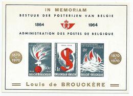 """LX 44 (Internationale Socialiste)  """"Louis De Brouckère"""" - Hojas De Lujo"""