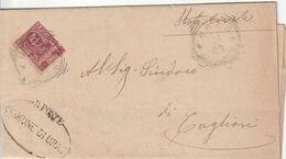Uras. 1903. Annullo Tondo Riquadrato URAS (CAGLIARI) + Ovale COMUNE DI URAS, Su Lettera Senza Testo - Marcophilie