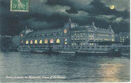 75 PARIS LA NUIT LA NOUVELLE GARE D'ORLEANS Editeur E L - Paris Bei Nacht