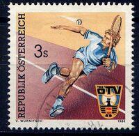 AUTRICHE  - 1536° - TENNIS - 1981-90 Used