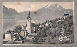 Weggis Et Le Pilate Chemin De Fer 1888 Pour 2 Millions  - Cailler 3 - Chocolat Au Lait - Texte Au Dos  (~10 X 6 Cm) - Nestlé