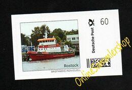 BRD - Marke Individuell - Feuerlöschboot Fire Ship - Rostock - Albert Wegener - Bateaux