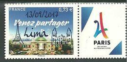 France N° 5144  Paris JO 2024  SURCHARGE 13-09-17 LIMA - KlebeBriefmarken