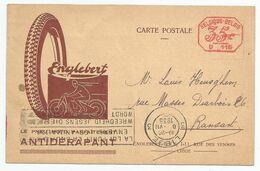 Belgique , C.P. Avec Pub. Pneu Englebert , 1935 - Motos