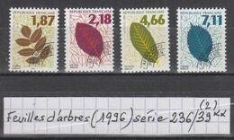 Préos Feuilles D'arbres (1996) Y/T Série 236/239 Neufs ** - 1989-....