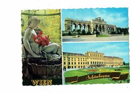 Cpm - Autriche - Wien - Vienne - Château Gloriette - Fontaine Statue Femme Coquille - Vienna