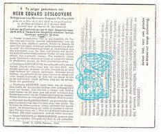 DP Eduard Desloovere ° Gits Hooglede 1872 † 1954 X Eugenie De Grendele / D'Hulster Kerckhofs Meeuws Vermeersch Decloedt - Andachtsbilder