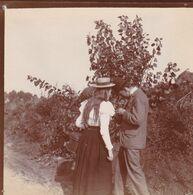 Photo Originale 1900  Château De Bouillon Baulers ? Famille Noblesse Couple De Profil - Orte