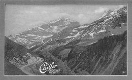 Route Du Klausen Scheerhorn Clarides Linth 1893-1900 4.1 M - Cailler 9 - Chocolat Au Lait - Texte Au Dos  (~10 X 6 Cm) - Nestlé