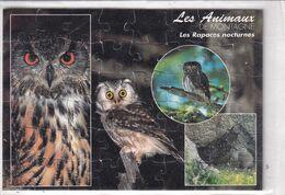 """Carte Puzzle """" Les Animaux """" Rapaces Nocturnes """" - Other"""