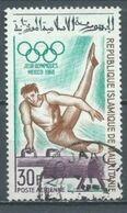 Mauritanie Poste Aérienne YT N°74 Jeux Olympiques De Mexico 1968 Cheval D'arçon Oblitéré ° - Mauritania (1960-...)