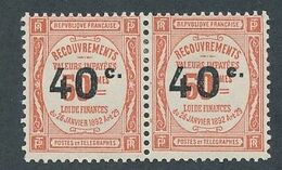 DT-130: FRANCE: Lot Avec Taxe  N°50-50b* Se Tenant - 1859-1955.. Ungebraucht
