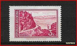 ARGENTINA 1971 -1972 Generale San Martin E Paesaggi  CATAMARCA CUESTA DE ZAPATA MINT  GJ  1522 - Argentina