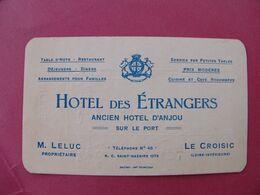Carte Commerciale Ancienne Hôtel Des Etrangers Ancien Hôtel D'Anjou LE CROISIC Loire Atlantique - Le Croisic
