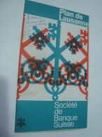 PLAN DE LAUSANNE - SWITZERLAND SCHWEIZ, VAUD, ROMANDY, 1969 APROX. - Reiseprospekte