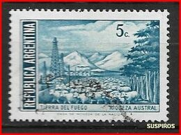 ARGENTINA 1971 -1972 Generale San Martin E Paesaggi  Tierra Del Fuego     GJ  1523 MO WM  USED - Argentina