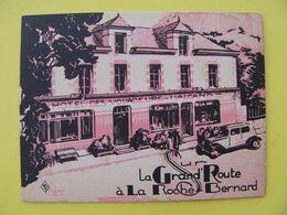 Carte Commerciale Ancienne Hôtel Des Voyageurs La Roche Bernard Sur La Route De Nantes à Vannes Morbihan - La Roche-Bernard