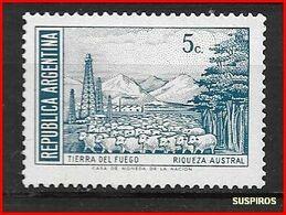 ARGENTINA 1971 -1972 Generale San Martin E Paesaggi  Tierra Del Fuego     GJ  1523 MO WM  MINT DIFFERENT COLOUR - Argentina