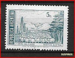 ARGENTINA 1971 -1972 Generale San Martin E Paesaggi  Tierra Del Fuego     GJ  1523 MO WM  *  DIFFERENT COLOUR - Argentina