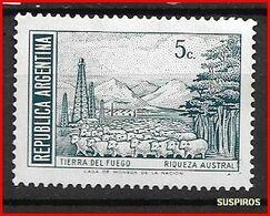 ARGENTINA 1971 -1972 Generale San Martin E Paesaggi  Tierra Del Fuego     GJ  1523 MO WM MNH  DIFFERENT COLOUR - Argentina