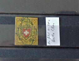 08 - 20 - Suisse - Zumstein N° 16II - Rayon II Oblitéré Grille Bleu - Signé Marchand - Cote : 200 FCH - 1843-1852 Federale & Kantonnale Postzegels