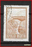 ARGENTINA 1971 Viste Del Paese  PUENTE DEL INCA GJ 1535 WM CASA DE LA MONEDA DIF COLOURS - Argentina